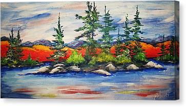 Vibrant Vista Canvas Print by Jill Alexander