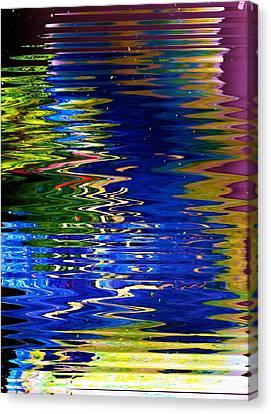 Vibrating Mirage Mystery Canvas Print