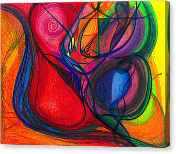 Daina Canvas Print - Vibrational Heart Healing - Sounds Of Radiant Joy, Purity Of Heart, Soul, Mind And Body Aligned by Daina White