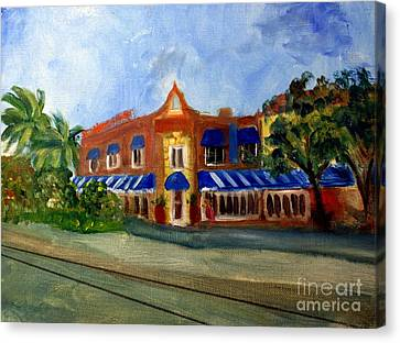 Vic And Angelos In Downtown Delray Beach Canvas Print by Donna Walsh