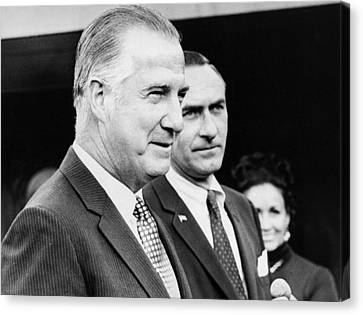 Vice President Spiro Agnew Canvas Print by Underwood Archives