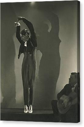 Man Looking Down Canvas Print - Vicente Escudero Dancing by Edward Steichen
