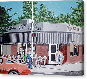 Vic's Ice Cream No. 4 Canvas Print by Paul Guyer