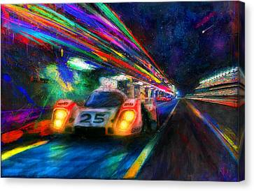 Vic's Night Out Canvas Print by Alan Greene