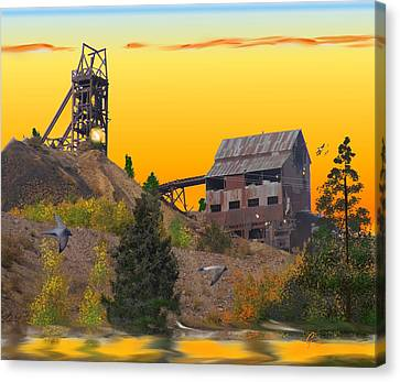 Victor Colorado Gold Mine Canvas Print