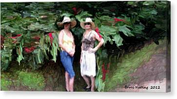 Canvas Print featuring the painting Victoria And Friend by Bruce Nutting