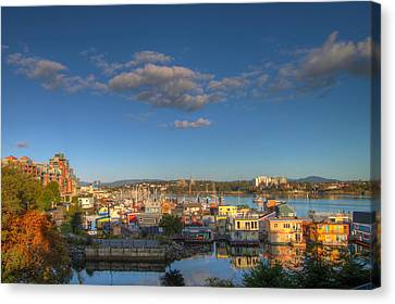 Victoria Bc Fisherman's Wharf Canvas Print