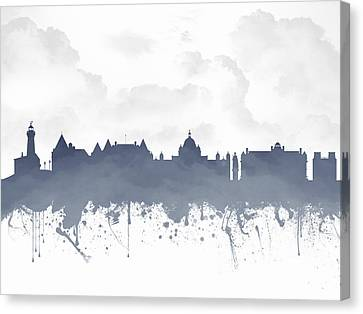 Victoria British Columbia Skyline - Blue 03 Canvas Print