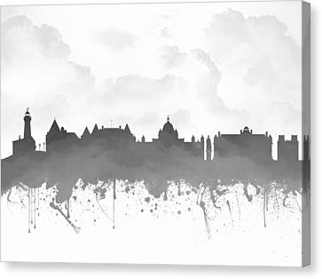 Victoria British Columbia Skyline - Gray 03 Canvas Print