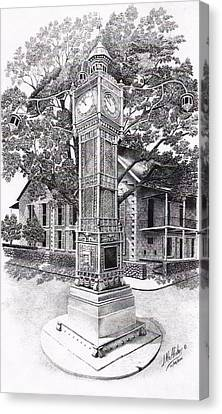 Victoria Clock Tower Canvas Print by Jimmy McAlister