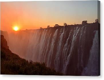 Victoria Falls At Sunset Canvas Print