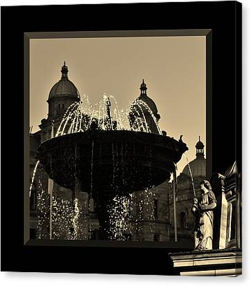 Victoria Fountain Canvas Print by Barbara St Jean