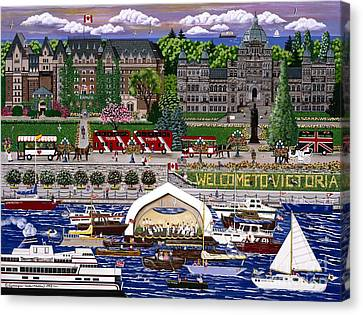 Canvas Print featuring the painting Victoria  by Jennifer Lake