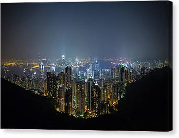 Canvas Print featuring the photograph Victoria Peak by Mike Lee