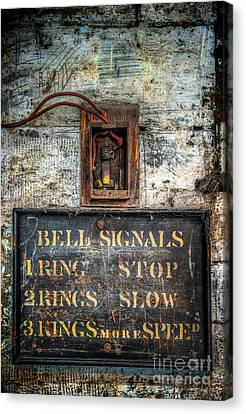 Victorian Bell Sign Canvas Print by Adrian Evans