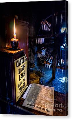 Victorian Candle Shop Canvas Print by Adrian Evans