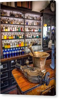 Victorian Chemist Equipment Canvas Print by Adrian Evans