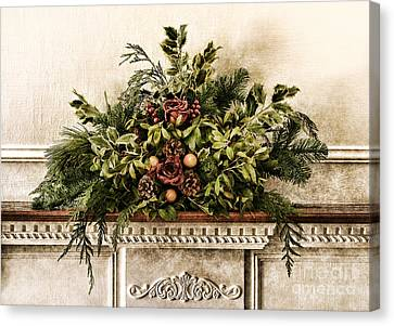 Victorian Christmas Canvas Print by Olivier Le Queinec