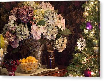 Canvas Print featuring the photograph Victorian Christmas by Patricia Babbitt