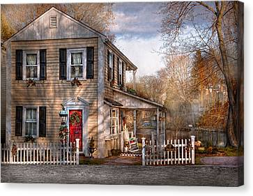Rocking Chairs Canvas Print - Victorian - Clinton Nj - Dreaming Of Skating Again  by Mike Savad