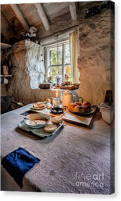 Victorian Cottage Breakfast Canvas Print by Adrian Evans
