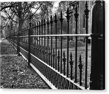 Victorian Fence Canvas Print by Jane Linders
