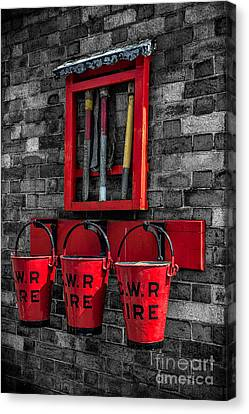 Victorian Fire Buckets Canvas Print by Adrian Evans