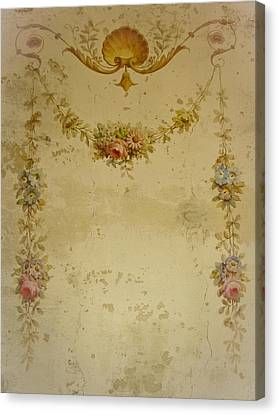 Dressing Room Canvas Print - Victorian Floral Swag And Garland by Colleen Kammerer