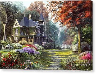 Victorian Garden Canvas Print by Dominic Davison