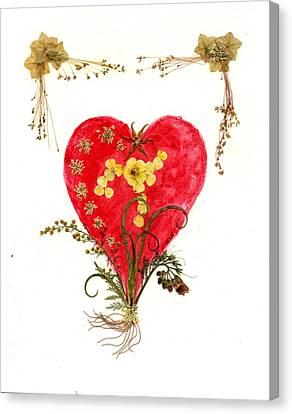 Victorian Heart Canvas Print
