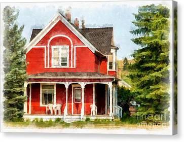 Victorian Home Red Lodge Montana Canvas Print