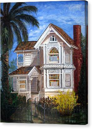 Canvas Print featuring the painting Victorian House by LaVonne Hand