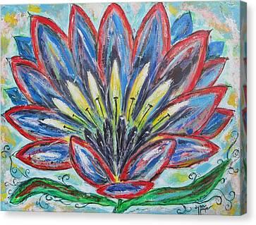 Hawaiian Blossom Canvas Print by Diane Pape