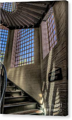 Victorian Jail Staircase Canvas Print by Adrian Evans