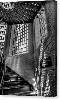 Skylight Canvas Print - Victorian Jail Staircase V2 by Adrian Evans
