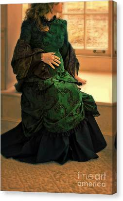 Victorian Lady Expecting A Baby Canvas Print by Jill Battaglia