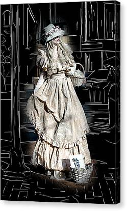 Victorian Lady Canvas Print by John Haldane