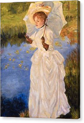 Canvas Print featuring the painting Victorian Lady by Sandra Nardone