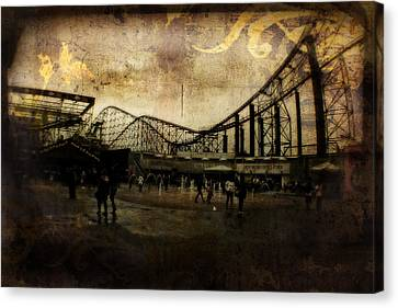 Victorian Roller Coaster - Circa 2014 Canvas Print by Doc Braham