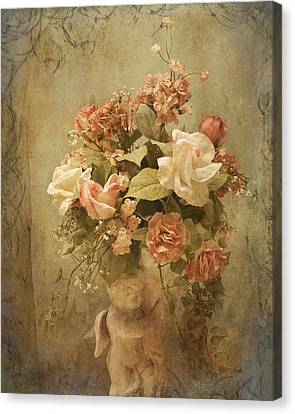 Victorian Rose Floral Canvas Print by TnBackroadsPhotos