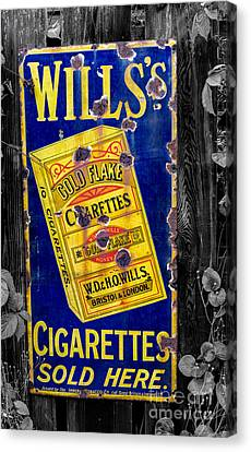 Victorian Sign Canvas Print by Adrian Evans