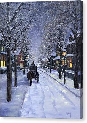 Victorian Snow Canvas Print by Alecia Underhill