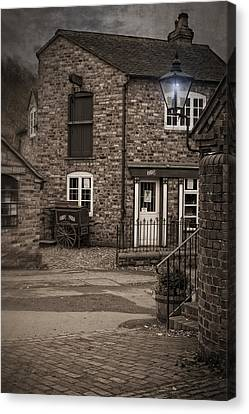 Victorian Stone House Canvas Print by Amanda Elwell