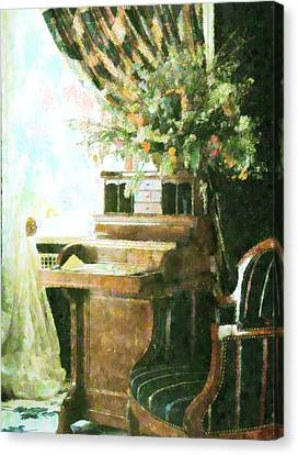 victorian Study Canvas Print by Florene Welebny