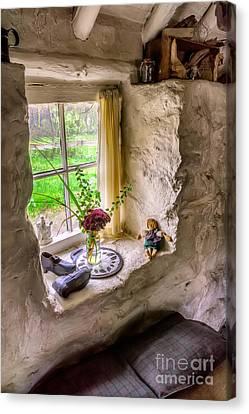 Curtains Canvas Print - Victorian Window by Adrian Evans