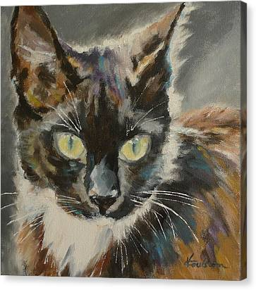 Victoria's Cat Canvas Print by Veronica Coulston