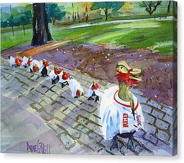 Victory Ducks Canvas Print by Diane Bell
