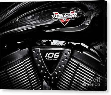 Victory Monochrome Canvas Print by Tim Gainey