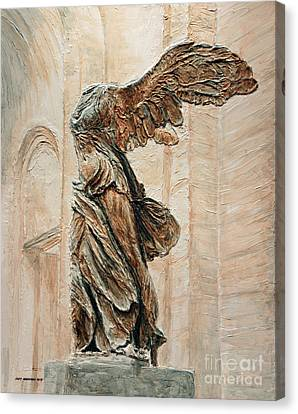Victory Of Samothrace Canvas Print by Joey Agbayani
