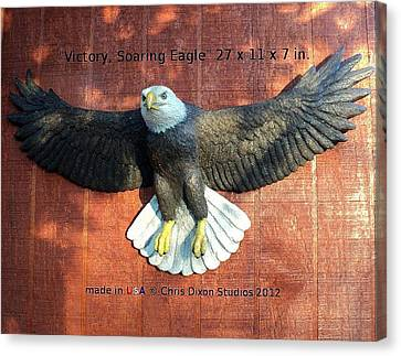 Victory - Soaring Eagle Statue Canvas Print by Chris Dixon